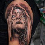 santa muerte tattoo10