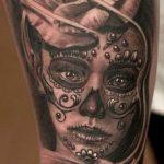 santa muerte tattoo103