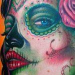 santa muerte tattoo105