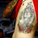 santa muerte tattoo110