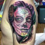 santa muerte tattoo111