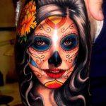 santa muerte tattoo112