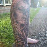 santa muerte tattoo115