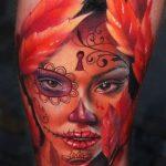 santa muerte tattoo118