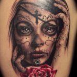santa muerte tattoo13