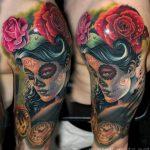 santa muerte tattoo14