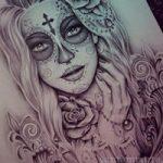 santa muerte tattoo18