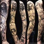 santa muerte tattoo20
