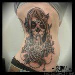 santa muerte tattoo23