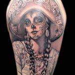 santa muerte tattoo26
