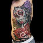 santa muerte tattoo29