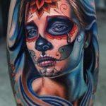 santa muerte tattoo33