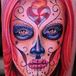 santa muerte tattoo38