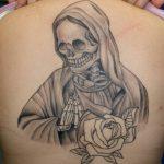 santa muerte tattoo39