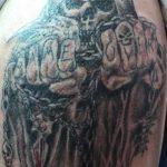 santa muerte tattoo4