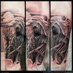 santa muerte tattoo40