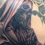 santa muerte tattoo42