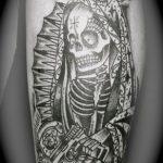 santa muerte tattoo46