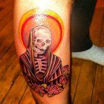 santa muerte tattoo48