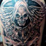 santa muerte tattoo5