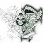 santa muerte tattoo50