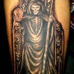 santa muerte tattoo55