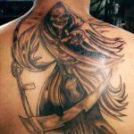 santa muerte tattoo56