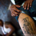 santa muerte tattoo58