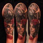 santa muerte tattoo6