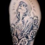 santa muerte tattoo61