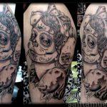 santa muerte tattoo70