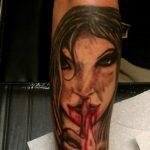 santa muerte tattoo71