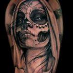 santa muerte tattoo8