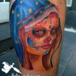 santa muerte tattoo81