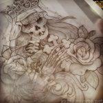 santa muerte tattoo9
