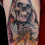 santa muerte tattoo91