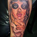 santa muerte tattoo95