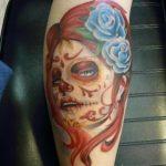 santa muerte tattoo99